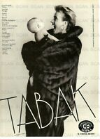 1987 Tabak Furs Vintage Italian Magazine Ad   Girl in Fur Coat Holding a Baby