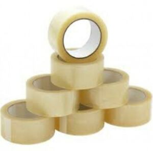 6 rouleaux papier ruban adhésif 50 m x 50 mm 135µ papier ruban adhésif Paketband Adhésif