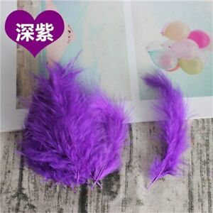 Turkey Feather Natural Plumes 50pcs 10-15cm Plume Fluffy DIY Jewelry Feathers