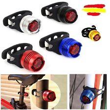 Luz para bici trasera linterna roja aluminio ciclista foco noche bicicleta LED