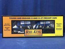 Rail King MTH 30-76037 Alaska Flat car w/Zambonis FREE SHIPPING O SCALE