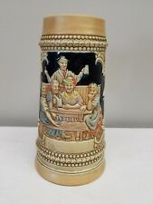 "Large Ceramarte German Style Beer Stein Made in Brazil 8 1/2"" #022"