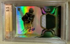 Davante Adams 2014 Topps Platinum REFRACTOR AUTO PATCH RC BGS 9.5/10