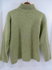Old Navy Turtleneck Sweater Pullover Long Sleeve Acrylic Wool Green M #7218