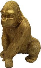 More details for out of africa jungle gold gorilla figurine ornament wildlife collection 28cm