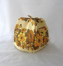 Tea cosy, teapot cover, vintage, yellow and brown, flower pattern, from Ireland