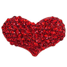 RUCINNI Heart Brooch, Gold Plated and Swarovski Crystals