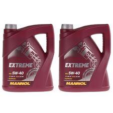 MANNOL 5W-40 Motoröl 2x5 Liter Universal Extreme Leichtlauf Synthetic Öl
