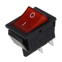 Intterrutore A Bilanciere A 4 Pin Dpst On/Off Snap In Con Luce Rossa 15A/25 D1M6
