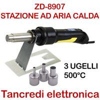 ZD8907 STAZIONE DIGITALE AD ARIA CALDA SALDATORE DISSALDATORE SALDANTE ZD-8907