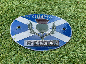 ALBION REIVER LORRY TRUCK WAGON RADIATOR BRITISH COMMERCIAL BADGE