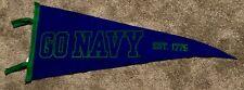 Navy Midshipmen Go Navy Wool Pennant