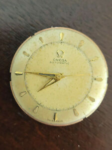 VINTAGE OMEGA WRIST WATCH MOVEMENT CAL 351 BUMPER  AUTOMATIC WORKING