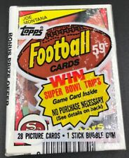 1984 TOPPS FOOTBALL CELLO PACK WITH JOE MONTANA ON FRONT NFC CHAMPIONSHIP BACK