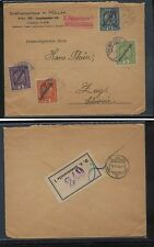 Austria  overprinted stamps on cover to Zug, Switzerland    label         KL0709