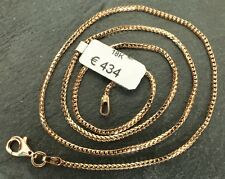 Goldkette 18 Karat / 750 ECHTES GOLD! Schlangenkette Halskette 42cm, eVp 434,- €