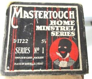 Mastertouch Home Minstrel series Pianola Roll Series no.1 d 1722