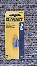 """DeWalt Slotted Bit Tips DW2008 No. # 8 Straight Tip 2 pack 1"""" Tips"""