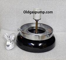 Gas Pump Globe Black Lighted Lamp Base GD-103B