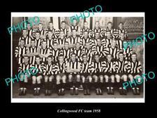 OLD LARGE HISTORIC PHOTO OF COLLINGWOOD FOOTBALL CLUB 1958 VFL PREMIERSHIP TEAM