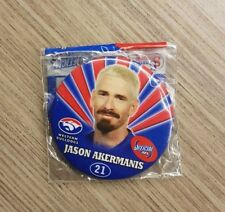 OFFICIAL AFL FOOTBALL PLAYER BADGE - WESTERN BULLDOGS JASON AKERMANIS