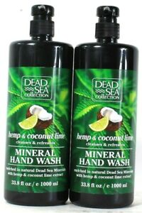 2 Bottles Dead Sea Collection 33.8 Oz Coconut Lime Refreshing Mineral Hand Wash