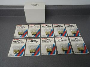 New Sylvania Miniature Light Lamp Bulb Heavy Duty 1157 Lot of (20) Parking Stop