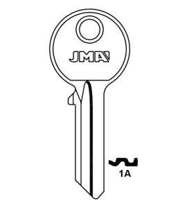 1A jma Key Blank 5 pin box of 50