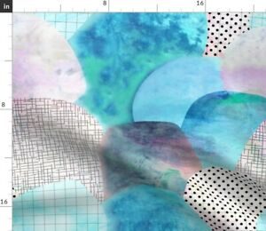 Circles Waves Scales Abstract Geometric Geometry Spoonflower Fabric by the Yard