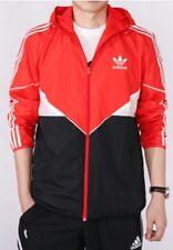 Hommes Adidas Colorado Coupe-vent Veste à Capuche Rouge/Noir UK M