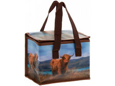 Highland Cow Thermal Picnic Baby Food Lunch Bag Box School/Leisure 22x12x16cm