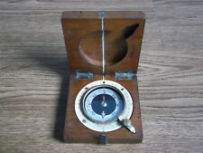 Rare antique J.WARDALE & Co dial operating wooden compass London 1918 (WWI).