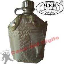 BORRACCIA da 1 Litro FODERATA VERDE MILITARE MFH da cintura cinturone o zaino