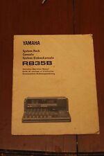 Yamaha RB35B User's Manual - Multitrack Cassette Recorder