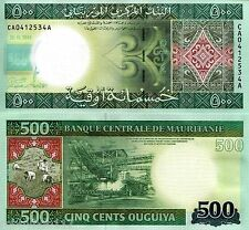 MAURITANIA 500 Ouguiya Banknote World Paper Money UNC Currency Bill p18 Note