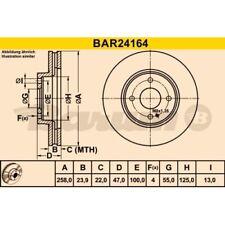 2 Bremsscheibe BARUM BAR24164 passend für MAZDA