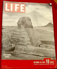 Life Magazine October 19, 1942 Budweiser, Texaco  Near Mint Condition