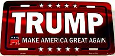 Novelty Patriotic license plate  Trump New Aluminum Auto Tag Made in USA LP-9341