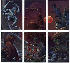 Joe Jusko - Metalic subset card lot [6 cards]