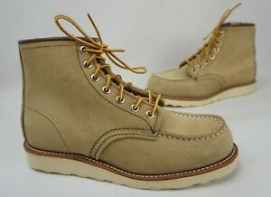 Red Wing 8850 Classic Moc Toe Men's Sand Mohave Boots Size 7 E