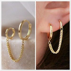 925 Silver Geometry Earrings Women Simple Fashion Ear Stud Wedding Jewelry Gifts