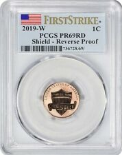 """2019-W LINCOLN First """"W"""" REVERSE PROOF CENT 1c FIRST STRIKE PCGS PR69RD"""