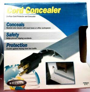 Belkin On Floor Cord Protector Concealer non trip free 6-foot Gray Heavy Duty