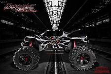 "TRAXXAS E-MAXX GRAPHICS WRAP DECALS ""THE DEMONS WITHIN"" FITS OEM BODY PARTS"