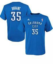 NWT OKLAHOMA CITY THUNDER # 35 Durant Adidas T-shirt Boys Sz Small 8