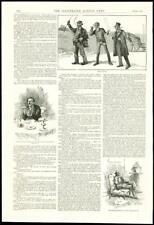 1888-antica stampa-Bristol cobmen GENTILUOMO FUMARE Pipe seduti (192)
