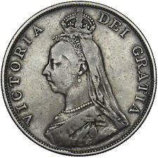 More details for 1888 double florin - victoria british silver coin