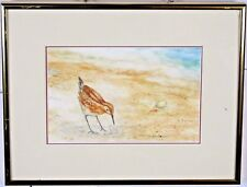 "Framed Watercolor Sand Piper ""Looking for Dinner""  by Trisha McCann"