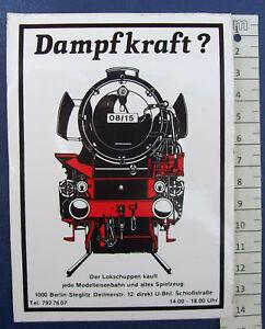 Aufkleber Dampflok Werbeaufkleber ca. 10 x 14 cm