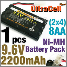 1 x 9.6V 2x4 8 AA 2200mAh NIMH Rechargeable Battery Pack